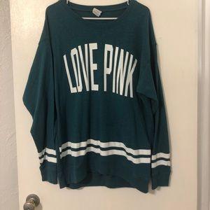 Varsity style PINK sweatshirt